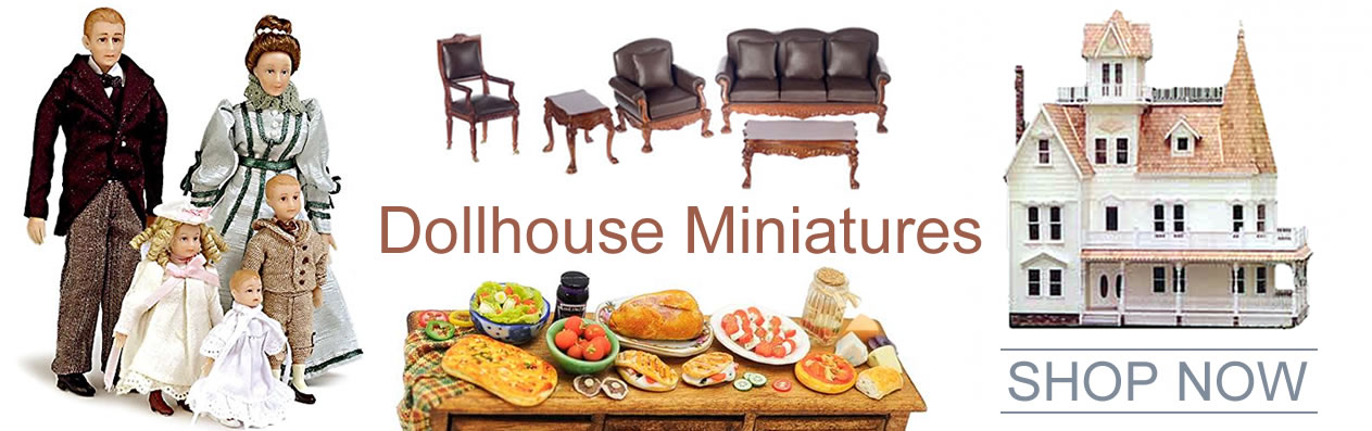 """Oakridge Hobbies offers the largest online selection of 1 Inch (1"""" = 1') Scale Doll Houses, Dolhouse Miniatures and Doll House Building Supplies including Doll houses, Dollhouse furniture, Dollhouse windows and doors, Dollhouse Interior decorating supplies, Dollhouse lighting, Dollhouse miniature figures, Dollhouse Supplies, Assembled Dollhouses, Dollhouse kits, Children's Play Dollhouses"""